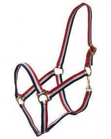 Head collar Red/white/blue Full