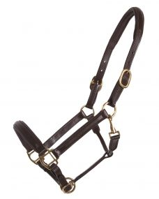 Head collar leather delicate Dark brown Full