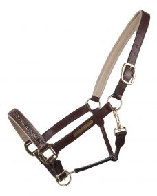 Head collar leather Lupine Brown/beige Full