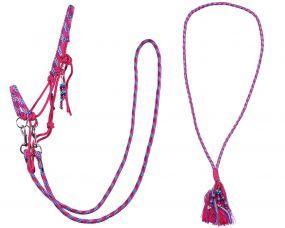 Rope halter combi Liberty Fuchsia Extra full