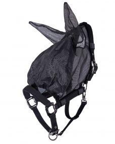 Halter-fly mask with ears Black Full