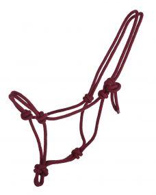 Rope halter basic Burgundy Mini Shet