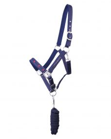 Head collar set Q Friesian Navy Full