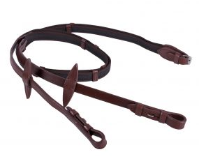 Anti-slip reins with leather stops Brown Full