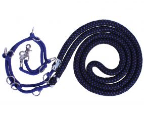 Lunging rope luxury Blue/black XL