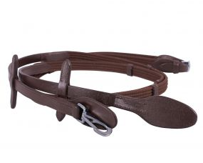Web rein with clip Brown Full