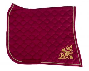Saddle pad Baroque Dark red/gold D Full
