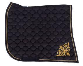 Saddle pad Baroque Black/gold D Full