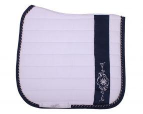 Saddle pad Botanic White/navy D Full