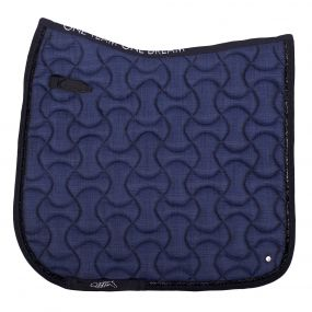 Saddle pad Metallic glitz Blue D Full