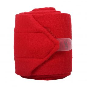 Fleece bandages Bright red 3m