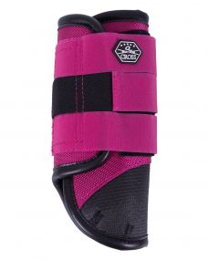Eventing boots front leg technical Fuchsia XL