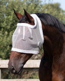Fly mask without ear protection Grey Extra full