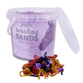 Rubber braiding bands wide Mix colours 200gr
