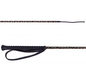 Dressage whip Rhombic Gold 120cm