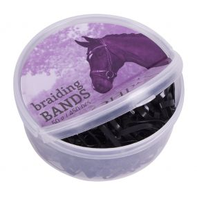Rubber braiding bands box Black 50gr