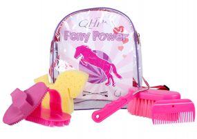 Pony Power grooming backpack Fuchsia