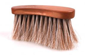 Curved dandy brush Timber Brown 10 pieces