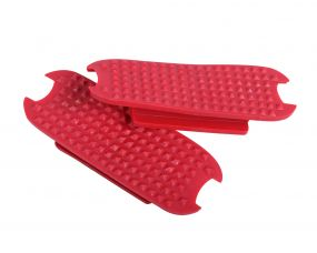 Stirrup pads Color Bright red 12cm