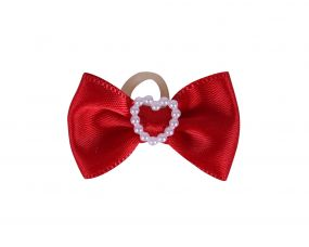 Show bows Heart Red