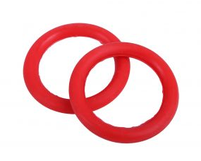 Safety stirrup elastic rings Bright red