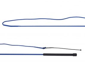 Lunging whip divisible Cobalt blue 1.80m