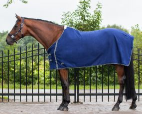 Fleece rug basic without cross surcingles Blue 215