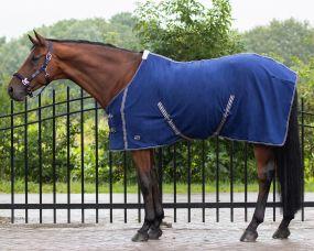 Fleece rug basic with cross surcingles Blue 215