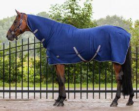Fleece rug basic with neck Blue 215