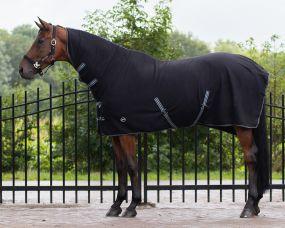 Fleece rug basic with neck Black 215
