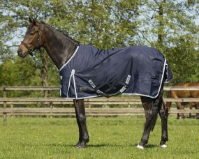 Turnout rug 600D fleece lining Dark blue 215