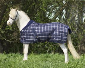Falabella stable rug 200gr blue check 115