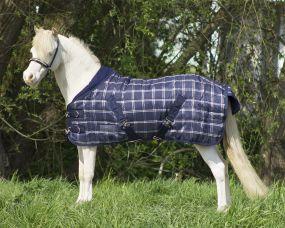 Falabella stable rug 200gr blue check 115