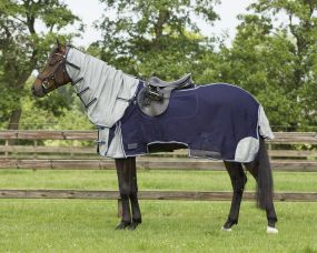 Exercise fly sheet with Neck Blue 215