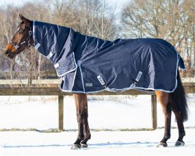 Turnout rug 600D with neck 300gr Navy 215