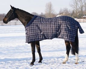 Stable rug luxury 150g Blue Check 215