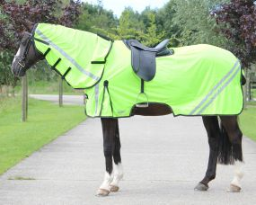 Exercise fly sheet reflection with neck Yellow 215