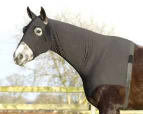 Lycra neckprotector Black L