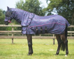 Anti-fly sheet with neck and hood collectio Pink Leopard 155