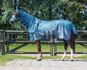 Anti-fly sheet collection with neck and hood Zigzag 205