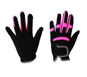 Glove Multi Color Black/fuchsia L