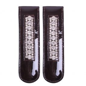Boot clip Bernice Darkbrown/silver