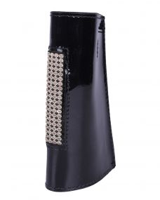 Stirrup leather cover Madelon Black/silver