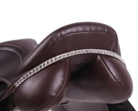 Saddle jewel Sharina Brown/silver Full