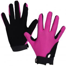 Handschoen Mesh Fuchsia/zwart L