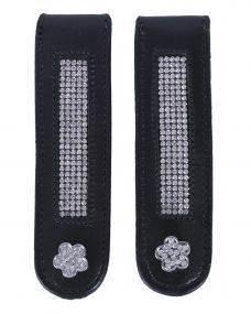 Boot clip Flower Black/silver