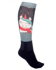 Knee stockings Cheery Winter unicorn 36-40