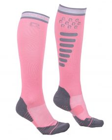 Riding sock super grip Flamingo pink 39-42