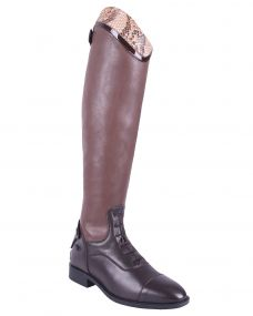 Riding boot Birgit Snake Adult wide Brown 42