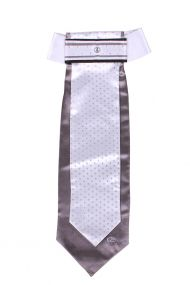 Stock tie Dotted White/grey M